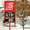 Record-Eagle/Jan-Michael Stump<br /> Gas prices in the Grand Traverse area have jumped in the past day, reaching as high as $3.20 at the Shell Station at U.S. 31 and South Airport Road and $3.19 at the Speedway Station at Fourteenth and Union Streets.