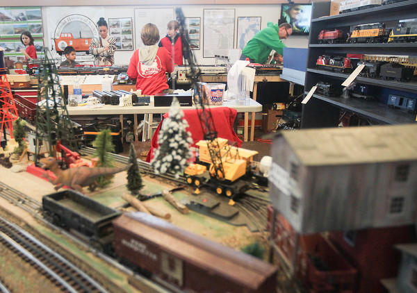 Record-Eagle/Keith King<br /> People gather at the History Center of Traverse City during the Festival of Trains.