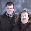 Record-Eagle/Nathan Payne<br /> Justin Knickerbocker and his mother Lisa, of Garfield Township, where the victims of a theft on New Year's Eve when a new snow blower that Justin purchased for his mother was stolen out of their front yard.