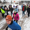 Record-Eagle/Keith King<br /> Participants take off from the starting line in Traverse City on New Year's Day during the Resolution Run 5K to benefit the Traverse Health Clinic.