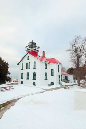 Record-Eagle/Keith King<br /> The Grand Traverse Lighthouse Saturday at the tip of Leelanau County on Lake Michigan.