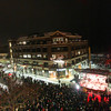 Record-Eagle/Keith King<br /> People gather for the New Year's Eve CherryT Ball Drop celebration in downtown Traverse City.