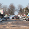 Record-Eagle/Keith King<br /> A pedestrian crosses the street Saturday in Northport.