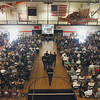 Record-Eagle/Keith King<br /> Attendees fill the Kingsley High School gymnasium Saturday, August 4, 2012 prior to the start of the funeral for United States Marine Sgt. Justin Hansen who was killed in Afghanistan.