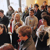 Record-Eagle/Jan-Michael Stump<br /> Over 60 former and current students gathered in the chapel a Munson Medical Center Thursday to sing for Jennifer Miles, who has been a part of productions by Old Town Playhouse, Miracle Productions and Traverse City St. Francis High School, and passed away Thursday afternoon.