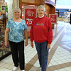 "Record-Eagle/ Anne Stanton   Shirley Covey, 74, (left) and her slightly older friend, Carol Meindertsma don't have to make a New Year's resolution. They already walk three laps around the Grand Traverse Mall every morning. ""We just do it,"" Covey said."