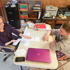 Record-Eagle/Keith King<br /> Peggy Balamucki, of Long Lake Township, utilizes flashcards as she tutors Owen Walters, of Traverse City, Wednesday, November 20, 2013 in Long Lake Township.