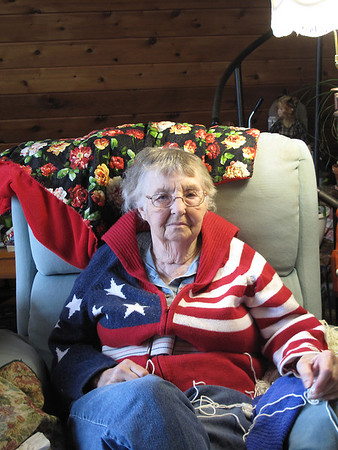 Record-Eagle Photo/Art Bukowski<br /> Kip Taylor sits in her home this week.