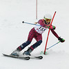 Record-Eagle/Jan-Michael Stump<br /> Glen Lake's Madison Fink takes her second run in the girls slalom in Thursday's Division 2, Region 5 ski regional at Crystal Mountain.