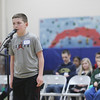 Record-Eagle/Keith King<br /> Cody Deisler spells a word Monday, February 11, 2013 during the Grand Traverse County Spelling Bee at Grand Traverse Academy.