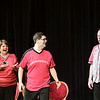 Record-Eagle/Keith King <br /> From left, Dianah Dulany, Sam Super and Mookie Harris, members of  ComedySportz, perform a skit.