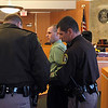 Record-Eagle/Jan-Michael Stump<br /> Suspended Grand Traverse sheriff's Deputy Kipp Needham is led away by sheriff's deputies after being sentenced by Judge Michael Haley in 86th District Court Wednesday after pleading guilty to one count of attempted assaulting, resisting or obstructing a police officer.