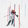 Record-Eagle/Jan-Michael Stump<br /> Traverse City Central's Mallory Weaver takes her second slalom run during Thursday's division one ski regionals at Schuss Mountain in Bellaire.