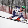 Record-Eagle/Jan-Michael Stump<br /> Traverse City Central's Briggs Chapman takes his first giant slalom run in the division one ski regionals at Schuss Mountain in Bellaire.