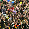 Record-Eagle/Jan-Michael Stump<br /> Traverse City West students do the Harlem Shake during halftime of Friday's game against Traverse City Central, which West won 66-54 to secure a share of the Big North Conference title.