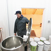 Record-Eagle/Keith King<br /> Jeremy Van Sice, of Forest Home Township, explains the workings of a steam-jacketed kettle Wednesday, February 13, 2013 which would be part of a planned meadery.