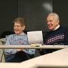 Record-Eagle/Jan-Michael Stump<br /> Violet and Paul Patchen (cq) laugh at a joke at the Traverse City Lupus Support Group meeting Wednesday at Munson Community Health.