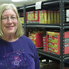 Record-Eagle/Anne Stanton<br /> Carol Hockin is a savvy shopper for the food pantry, but can't keep up with the demand.