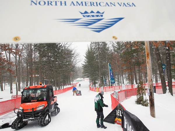 Record-Eagle/Keith King<br /> Preparations are made at Timber Ridge Resort for the 38th annual Vasa Festival of Races.