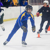 Record-Eagle/Keith King<br /> Dylan Peterson, 15, of Beverly Hills, competes Wednesday in the 100-meter speed skating time trials in Howe Arena at the Grand Traverse County Civic Center during the 2014 Special Olympics Michigan State Winter Games.