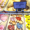 Record-Eagle/Nathan Payne<br /> Trays of decorated cookies line a display case at Potter's Bakery on Wednesday morning.