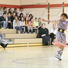 Record-Eagle/Keith King<br /> Cherrie McSawby, 8, a student at Willow Hill Elementary School, performs a hoop dance Wednesday, February 23, 2011 during a Native American Cultural Awareness presentation at Willow Hill Elementary School. The event was presented through a collaboration between the Traverse City Area Public Schools and the Grand Traverse Band of Ottawa and Chippewa Indians.
