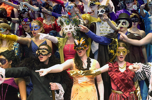 "Record-Eagle/Garret Leiva<br /> The chorus sings ""Masquerade"" in a scene from ""The Phantom of the Opera."""