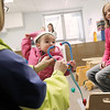 Record-Eagle/Jan-Michael Stump<br /> Holly Thomas, left, picks up her 18 month-old daughter Avery from day care at Central United Methodist Church.