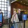 Record-Eagle/Michelle Merlin<br /> Carol and Chuck Forwerck head into the security line at Cherry Capital Airport. The Traverse City couple is heading south to a cruise in the Caribbean. <br /> sandborn