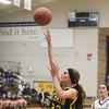 Record-Eagle/Keith King<br /> McBain's Meredith Hamlet (22) shoots the ball against Traverse City St. Francis Wednesday at Traverse City St. Francis High School.