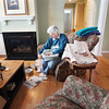 Record-Eagle/Keith King<br /> Marcia Hoffstetter, of Suttons Bay Township, places bubble wrap on lamp shades Saturday, February 16, 2013 as she packs her belongings.