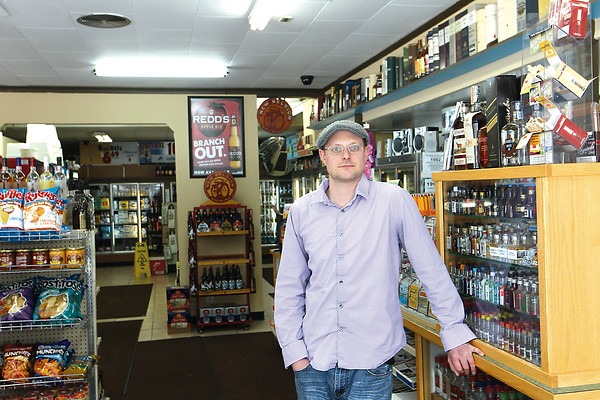 Record-Eagle/Jan-Michael Stump<br /> Manager George Nemetz stands in the new Mahoney's Sprits and Edibles on West Front Street, formerly Maxbauer's After Hours.