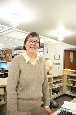 Record-Eagle/Loraine Anderson<br /> Northwestern Michigan College librarian Ann Swaney retired last June but hasn't closed the book on libraries.  She's now working part-time at Osterlin Library.