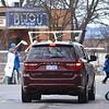 Record-Eagle/Dan Nielsen<br /> Pedestrians cross Cass Street as vehicle traffic stops at Front Street.