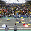 Record-Eagle/Jan-Michael Stump<br /> Forty teams from around the state are competing in this weekend's FIRST Robotics Competition at Traverse City Central High School. The district event, which is hosted by TCAPS' SCI-MA-TECH program, will include additional seeding matches from 9:30 a.m. to 12:30 p.m. today, and final rounds from 2 p.m. to 5 p.m. Teams use a standard kit of parts and a common set of rules to  solve a common problem in a given six-week period.