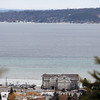 Record-Eagle/Jan-Michael Stump<br /> West Grand Traverse Bay is largely free of ice on Thursday afternoon. Two years ago this week the bay had frozen over completely. Area snowfall has already exceeded last year's totals, but is still behind previous years.