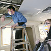 Record-Eagle/Keith King<br /> Great Lakes Maritime Academy cadets, Will Thompson, left, of New Hampshire, and Mary Kate Rea, of California, work on a project.