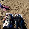 Record-Eagle file photo/Jan-Michael Stump<br /> On March 5, 2010, Eva Zindler, 4, was able to play in the sand while her mother, Laura Schewe, and Laura Bowen relaxed on Clinch Beach in Traverse City.