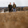 """Record-Eagle/Jan-Michael Stump<br /> Rob Evina, left, and Dan Kelly both own businesses near the future site of an Acme development along M-72 that includes a Meijer store, and are frustrated with the time it's taking to get the project started. """"Just get it going, it's a good project,"""" said Kelly."""