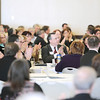 Record-Eagle/Keith King<br /> Attendees applaud Tuesday during the Northern Michigan Placemaking Summit at Northwestern Michigan College's Hagery Conference Center.
