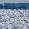 Record-Eagle file photo/Jan-Michael Stump<br /> Looking south toward Traverse City from between Power Island and Old Mission Peninsula, Grand Traverse Bay's West Arm was frozen over on March 2, 2009.
