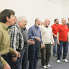 Record-Eagle/Keith King<br /> Members of the Cherry Capital Men's Chorus rehearse Tuesday at Presbyterian Church of Traverse City.