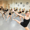 Record-Eagle/Keith King<br /> Ellie LaPointe, and her fellow members of Company Dance Traverse, rehearses Tuesday at Dance Arts Academy in Traverse City.