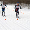 Record-Eagle/Dennis Chase<br /> Marquette's Abby Potts finishes second and the Vasa Ski Club's Heidi Schwab third in the girls pursuit race.