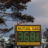 Record-Eagle/Jan-Michael Stump<br /> Regular unleaded gasoline cost just under $3.70 a gallon at the Mutual Service Station on East Front Street in Traverse City on Monday afternoon.