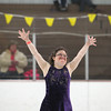 Record-Eagle/Jan-Michael Stump<br /> Kaitlyn Marston (cq) of Area 27 begins her figure skating routine at the Special Olympics Michigan Winter Games Thursday at Howe Arena.