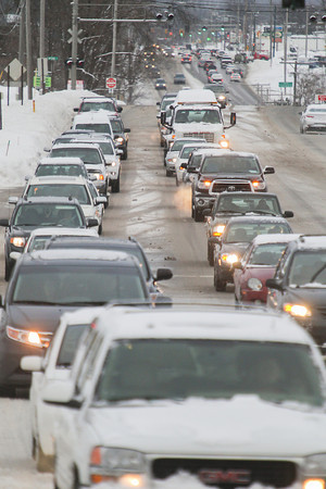 Record-Eagle/Keith King<br /> Vehicles travel on South Airport Road near Cass Road Wednesday in Traverse City.