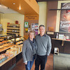 Record-Eagle/Keith King<br /> Denise and Mike Busley, owners, stand Thursday in Grand Traverse Pie Company on Front Street near Park Street in downtown Traverse City.