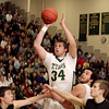 Record-Eagle/Keith King<br /> Traverse City West's Julius Moss shoots the ball against Traverse City Central Thursday, January 20, 2011 at Traverse City West High School.