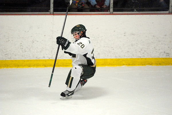 Record-Eagle/James Cook<br /> Traverse City West's Brent Petrosky (20) was one of three Titans players to score their first varsity goal Wednesday in an 8-0 win over Gaylord at Howe Arena. Pierce Cockrum (two) and Ty Vadeboncoeur were the others.